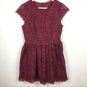 Divided H&M Burgundy Red Lace Dress 8